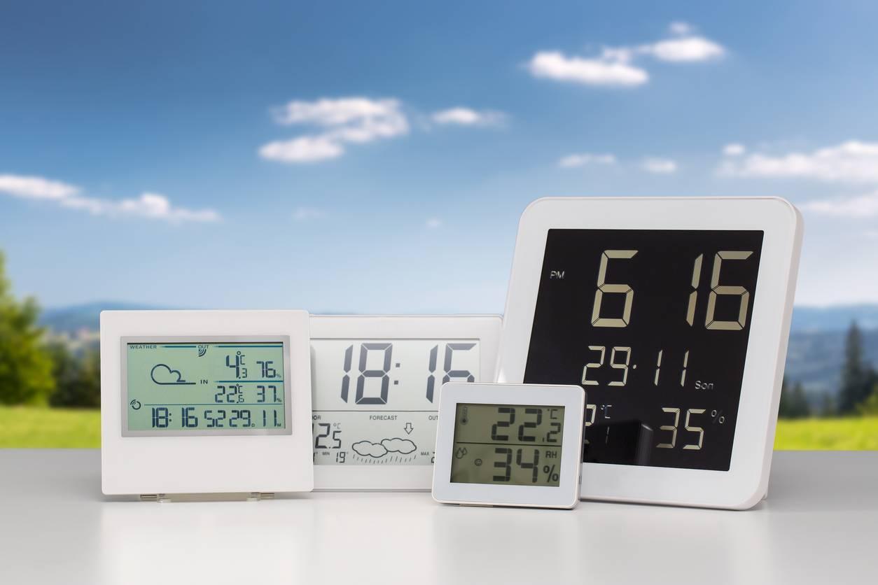 horloges et stations météo, objet publicitaire